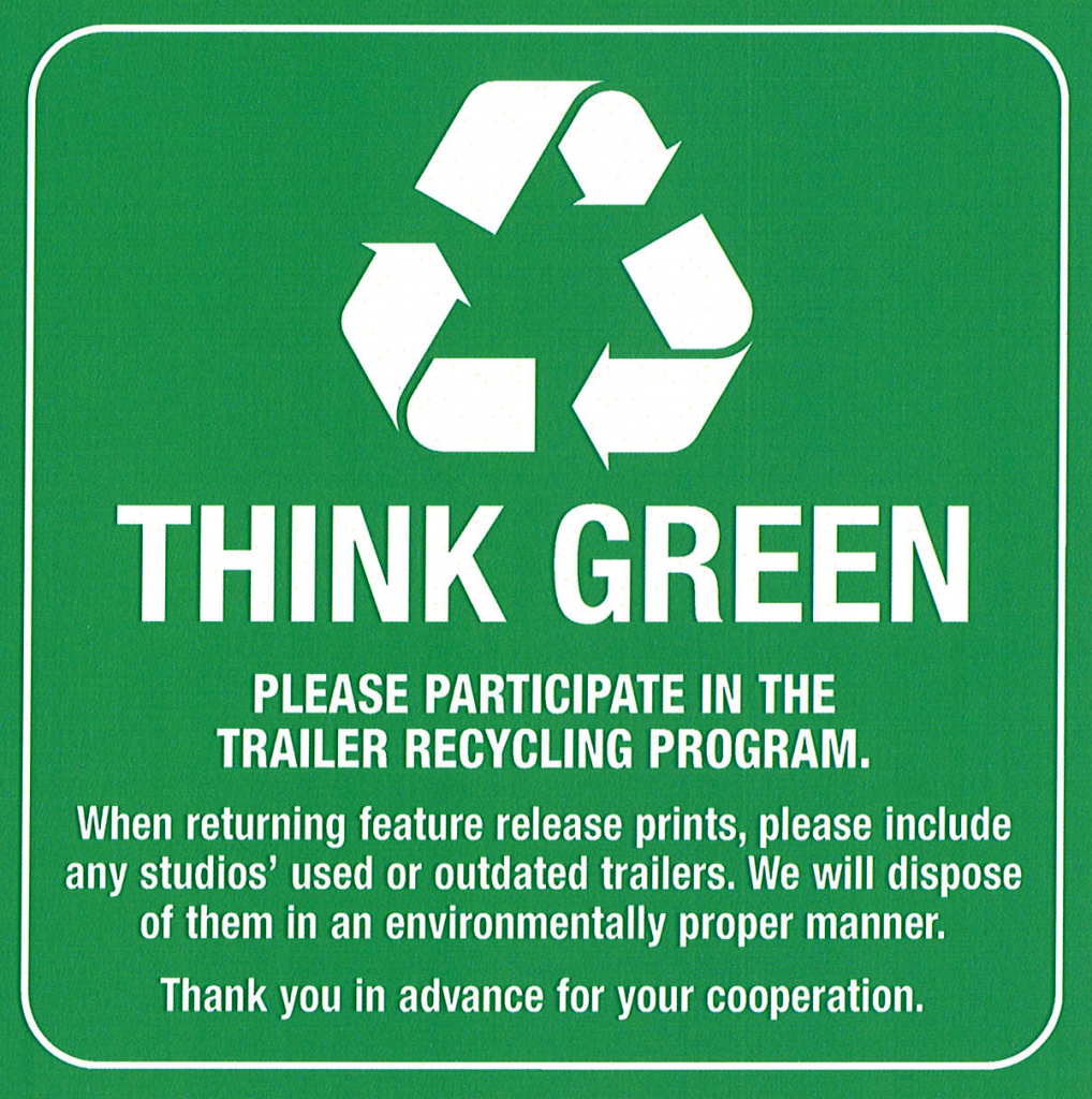 Edited Think Green Film Can Sticker